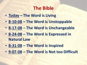 2008-08-03 The Word is Living