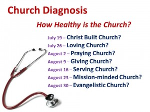 2015-07-19 Church diagnosis