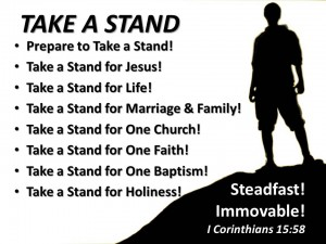 Take A Stand Title and Outline